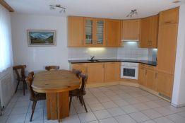 Küche mit Abwaschmaschine und grossem Tisch